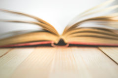Libro abierto de la falta de definición con el espacio en ventoso, imagen de la copia para el educatio de la mosca Fotografía de archivo libre de regalías
