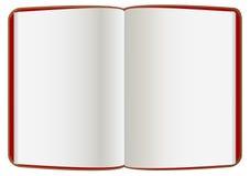 Libro abierto del cuero Imagen de archivo