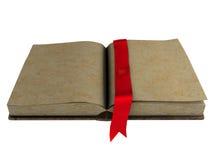 Libro abierto del espacio en blanco antiguo Foto de archivo libre de regalías
