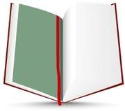Libro abierto del rojo Fotos de archivo libres de regalías