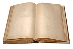 Libro abierto viejo Fotografía de archivo libre de regalías