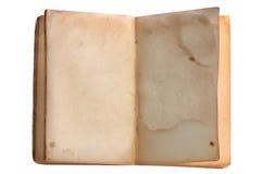 Libro abierto viejo Fotos de archivo