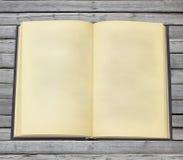 Libro abierto viejo con las paginaciones en blanco fotografía de archivo libre de regalías