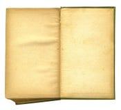Libro abierto viejo que ofrece textura de papel áspera Foto de archivo libre de regalías