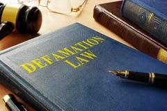 Libro acerca de la ley de la difamación imágenes de archivo libres de regalías