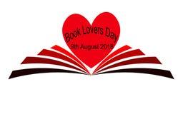 Libro amanti giorno 9 agosto illustrazione vettoriale