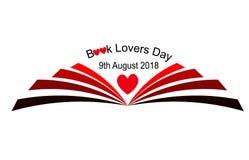 Libro amanti giorno 9 agosto royalty illustrazione gratis