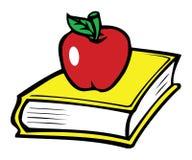 Libro & mela illustrazione di stock