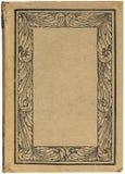 Libro antiguo con el marco floral Imágenes de archivo libres de regalías