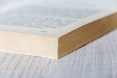 Libro aperto alla pagina 113 Concetto della lettura Fotografia Stock