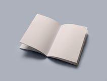 Libro aperto in bianco Fotografia Stock Libera da Diritti