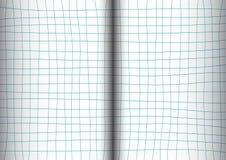 Libro aperto blu di Teal Grid White Background Immagini Stock