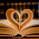 libro aperto con cuore 2 Fotografia Stock Libera da Diritti