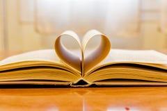 libro aperto con cuore 1 Fotografia Stock Libera da Diritti
