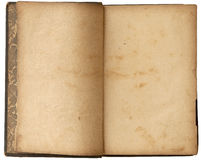 Libro aperto del vecchio spazio in bianco Fotografie Stock