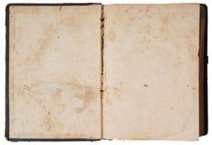 Libro aperto dell'annata Fotografia Stock