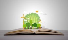 Libro aperto di ecologia Fotografie Stock
