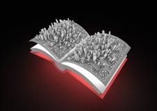 Libro astratto della città Immagine Stock