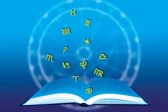 Libro astrológico stock de ilustración