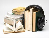 Libro audio foto de archivo