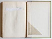 Libro in bianco aperto all'ultima pagina Immagine Stock Libera da Diritti