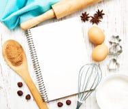Libro in bianco di ricetta Immagine Stock