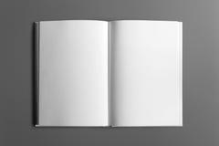 Libro in bianco isolato su grey fotografia stock libera da diritti
