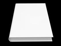 Libro bianco isolato su priorità bassa nera Fotografie Stock Libere da Diritti
