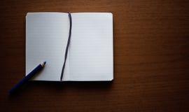 Libro Bianco. Note del blocco Fotografie Stock