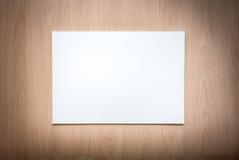 Libro Bianco su priorità bassa di legno Immagine Stock Libera da Diritti