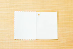 Libro Bianco sul fondo del compensato Immagini Stock