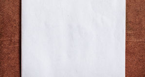 Libro Bianco sul pannello truciolare Immagine Stock