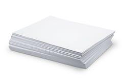 Libro Blanco de la pila fotografía de archivo libre de regalías