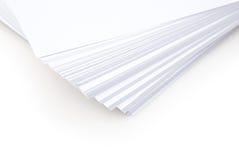 Libro Blanco empilado Fotos de archivo libres de regalías