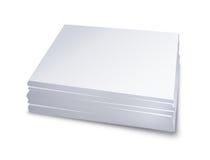 Libro Blanco empilado Imagenes de archivo