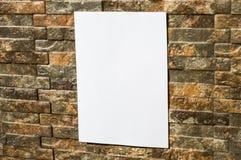 Libro Blanco en la pared Fotografía de archivo libre de regalías