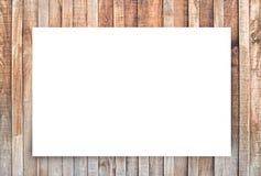 Libro Blanco y espacio para el texto en viejo fondo de madera fotos de archivo libres de regalías