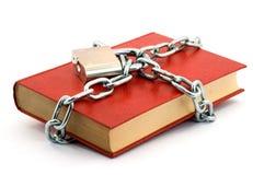 Libro bloqueado imagen de archivo libre de regalías