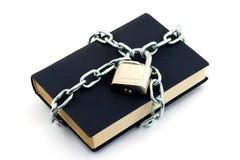 Libro bloqueado imagenes de archivo