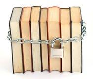 Libro bloqueado fotografía de archivo