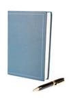Libro blu Fotografia Stock
