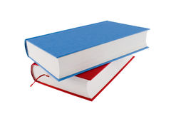 Libro blu e rosso Fotografie Stock Libere da Diritti