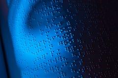 Libro in Braille. Braille per i ciechi fotografia stock