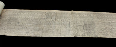 Libro chino viejo del almanaque Foto de archivo libre de regalías
