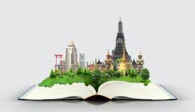 Libro con el viaje de Tailandia Bangkok Imagen de archivo libre de regalías