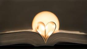 Libro con cuore Immagine Stock Libera da Diritti