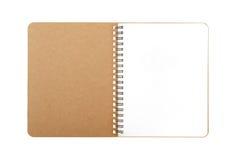 Libro con el alambre espiral Fotos de archivo