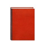 Libro con el hardcover de cuero rojo aislado Imagen de archivo
