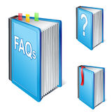 Libro con frecuencia pedido de las preguntas Imágenes de archivo libres de regalías
