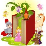 Libro con i caratteri dalle fiabe royalty illustrazione gratis